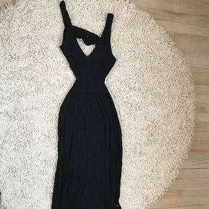Black Maxi Dress with Cutouts